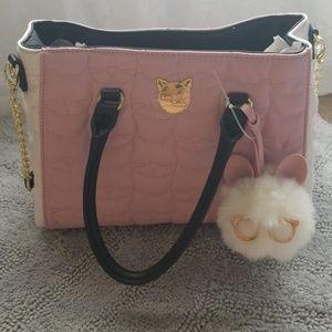 Betsey Johnson kitty cat print purse